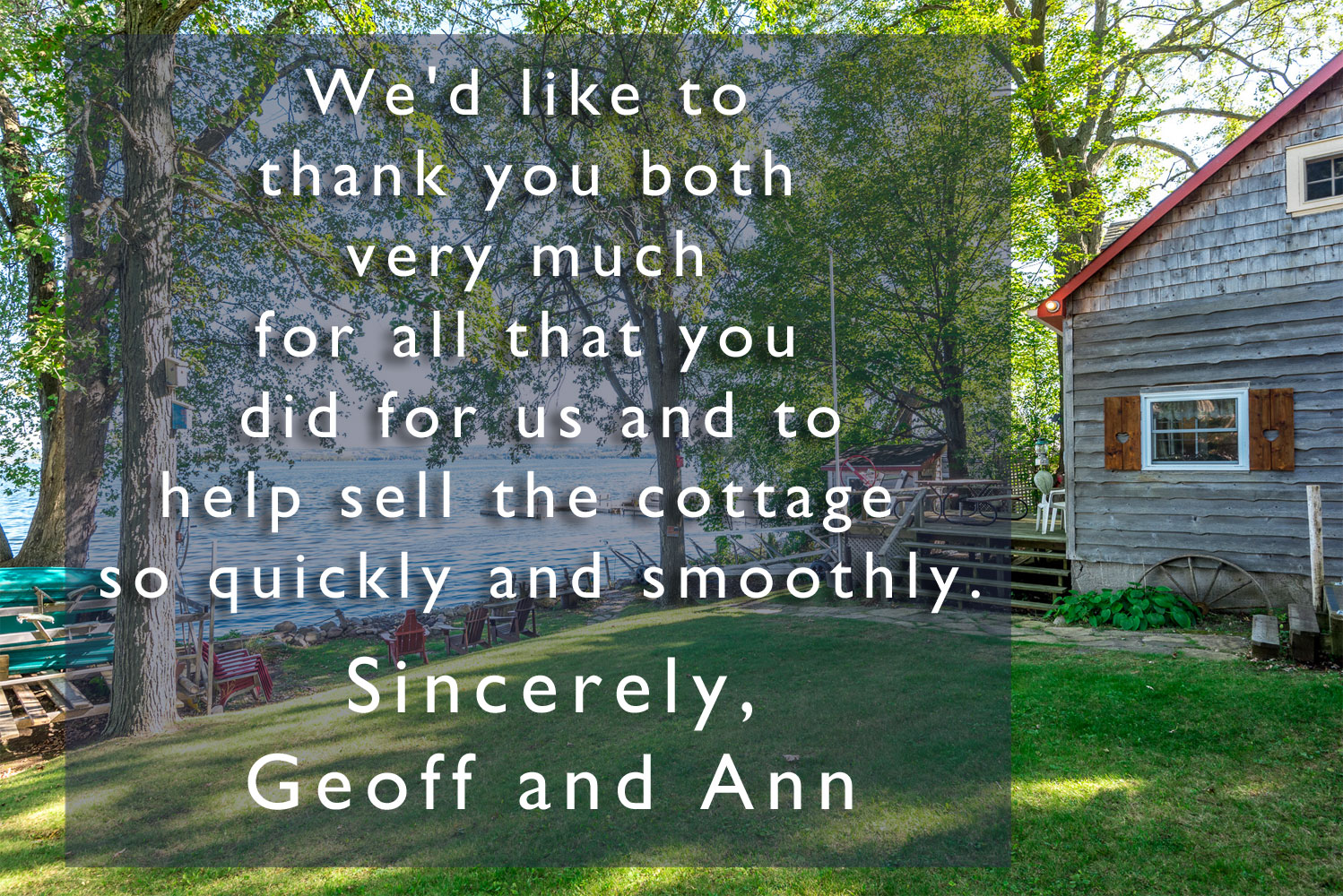 Geoff and Ann Appreciation Note